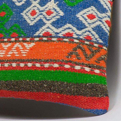 Anatolian Multi Color Kilim Pillow Cover 16x16 3653 - kilimpillowstore  - 3
