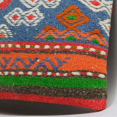 Anatolian Multi Color Kilim Pillow Cover 16x16 3655 - kilimpillowstore  - 3