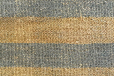 Blue striped mustard pillow , Decorative Kilim pillow  1517_A - kilimpillowstore  - 2