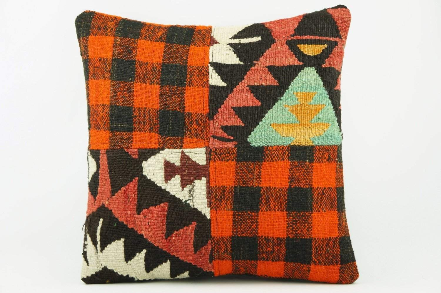 Bohemian Kilim plaid pillow cover 2256