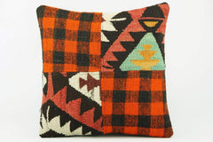 Bohemian Kilim  plaid pillow cover   2256 - kilimpillowstore  - 1
