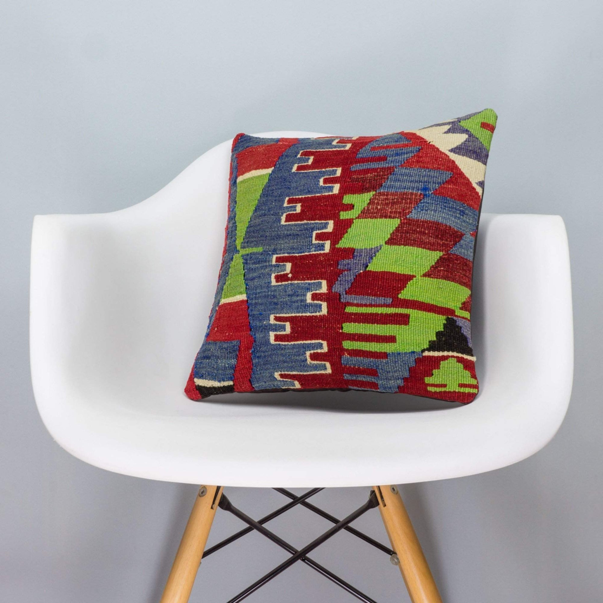 Chevron Multi Color Kilim Pillow Cover 16x16 3275