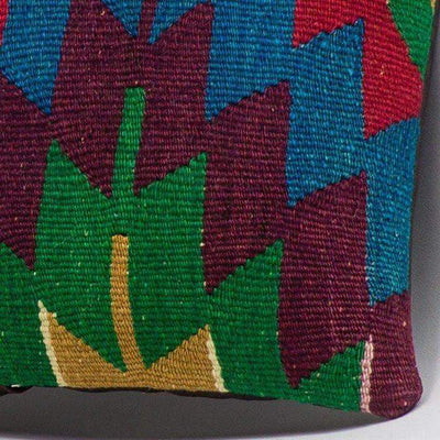 Chevron Multi Color Kilim Pillow Cover 16x16 3297 - kilimpillowstore  - 3