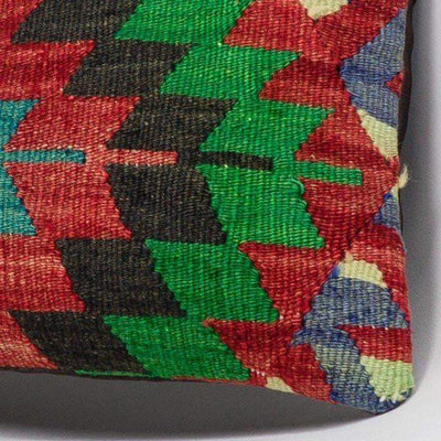 Chevron Multi Color Kilim Pillow Cover 16x16 3304 - kilimpillowstore  - 3