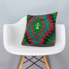 Chevron Multi Color Kilim Pillow Cover 16x16 3316 - kilimpillowstore  - 1