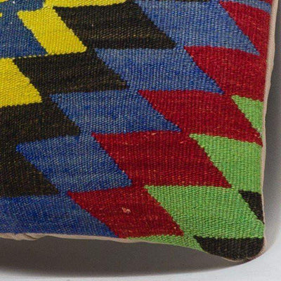 Chevron Multi Color Kilim Pillow Cover 16x16 3709 - kilimpillowstore  - 3