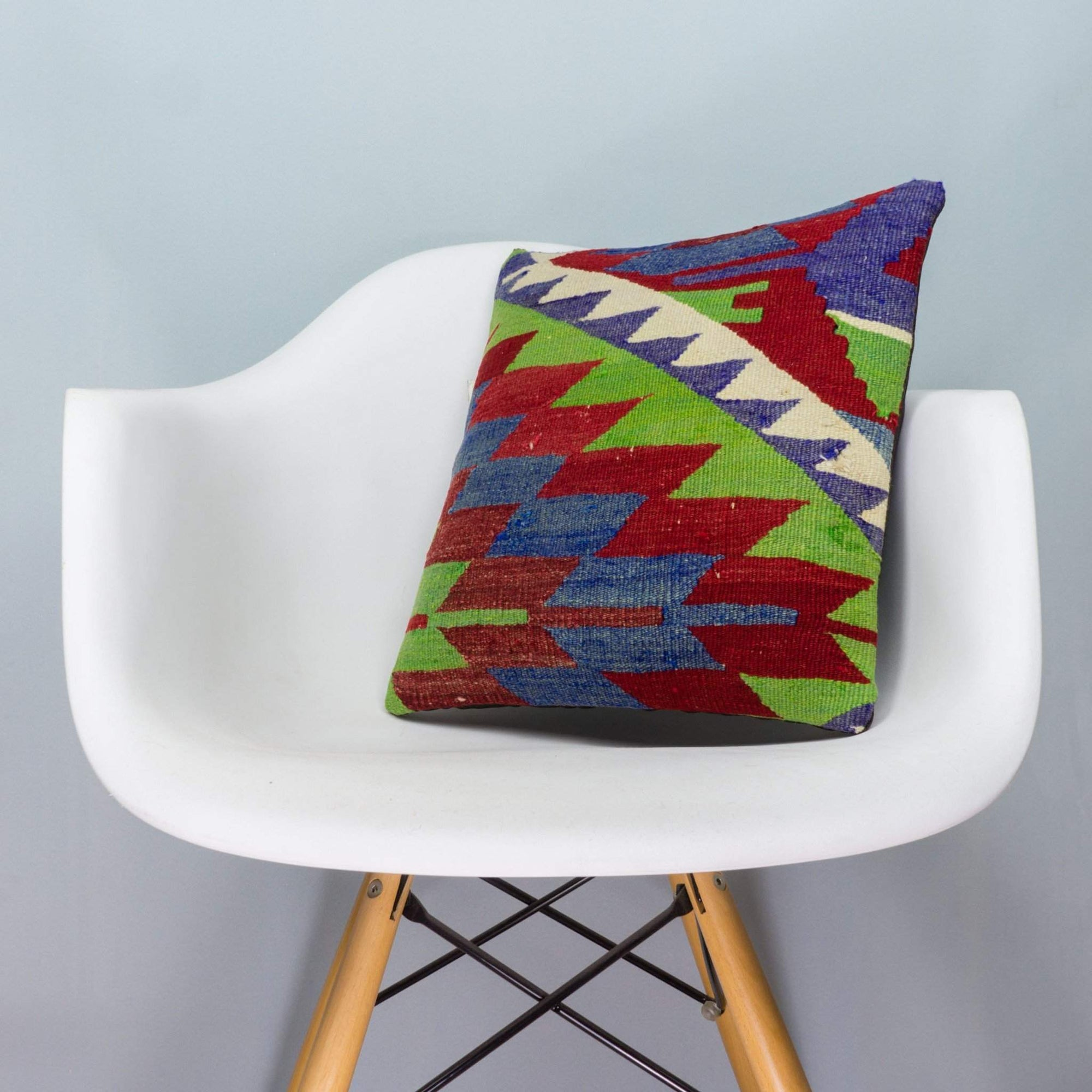 Chevron Multi Color Kilim Pillow Cover 16x16 3973