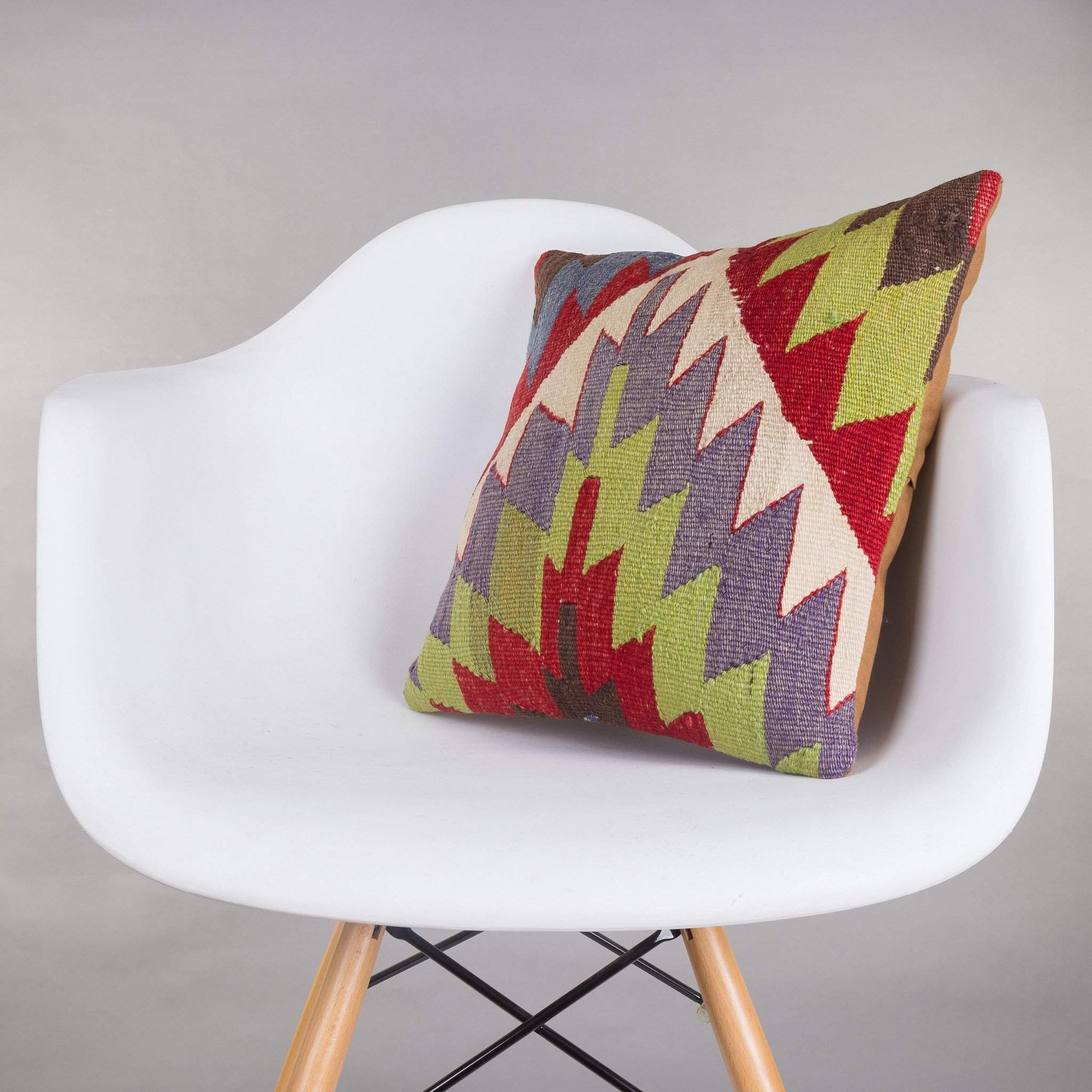 Chevron Multi Color Kilim Pillow Cover 16x16 4954