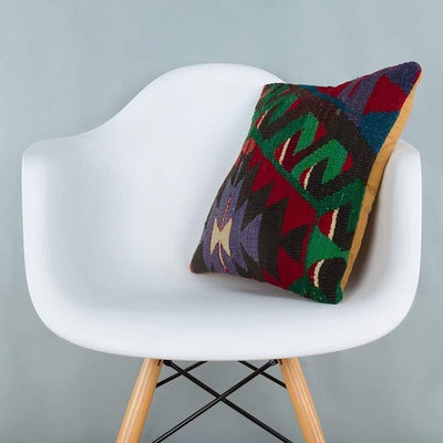 Chevron_Multiple Color_Kilim Pillow Cover_16x16_A0228_6595