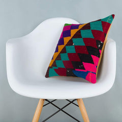 Chevron_Multiple Color_Kilim Pillow Cover_16x16_A0229_6608