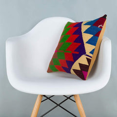 Chevron_Multiple Color_Kilim Pillow Cover_16x16_A0229_6620