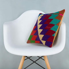 Chevron_Multiple Color_Kilim Pillow Cover_16x16_A0229_6621
