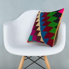 Chevron_Multiple Color_Kilim Pillow Cover_16x16_A0229_6622