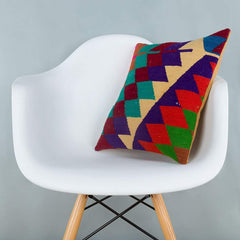 Chevron_Multiple Color_Kilim Pillow Cover_16x16_A0229_6623