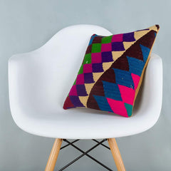 Chevron_Multiple Color_Kilim Pillow Cover_16x16_A0229_6635