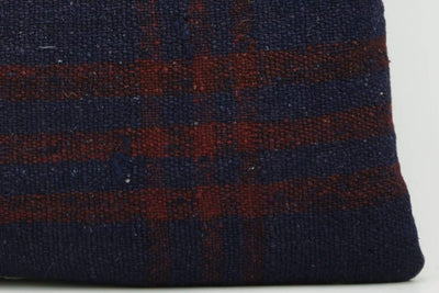 CLEARANCE 16x16  Hand Woven wool green black plaid  Kilim Pillow  cushion 1079_A Wool pillow cover,navy blue,claret red - kilimpillowstore  - 2