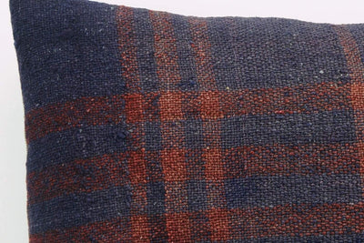 CLEARANCE 16x16  Hand Woven wool green black plaid  Kilim Pillow  cushion 1079_A Wool pillow cover,navy blue,claret red - kilimpillowstore  - 4