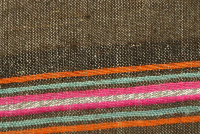 CLEARANCE 16x16  Hand Woven wool striped  Kilim Pillow  cushion 1111_A Wool pillow ,striped,pink,brown,orange - kilimpillowstore  - 3
