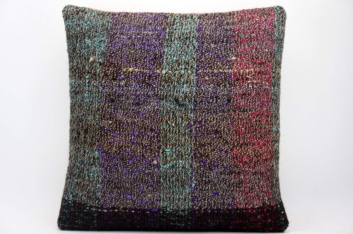 16x16 Hand Woven wool tribal ethnic dotted Kilim Pillow cushion 1344_A