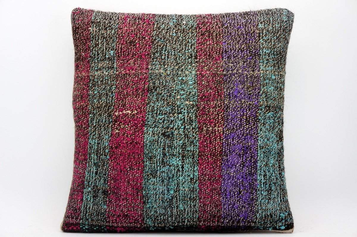16x16 Hand Woven wool tribal ethnic dotted Kilim Pillow cushion 1356_A