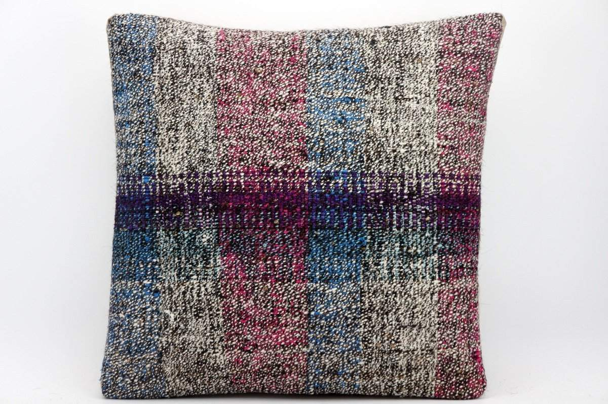 16x16 Hand Woven wool tribal ethnic dotted Kilim Pillow cushion 1359_A