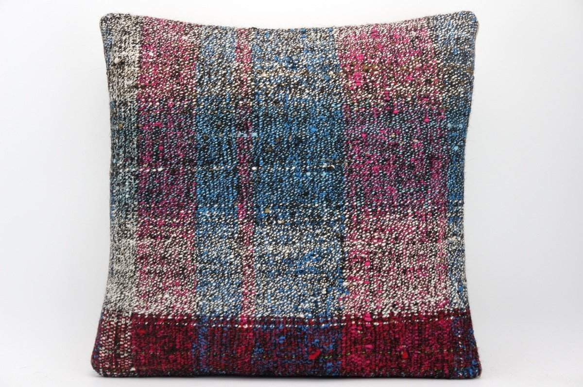 CLEARANCE 16x16 Hand Woven wool tribal ethnic dotted  Kilim Pillow cushion 1361_A - kilimpillowstore  - 1