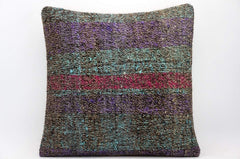 CLEARANCE 16x16 Hand Woven wool tribal ethnic dotted  Kilim Pillow cushion 1362_A - kilimpillowstore  - 1