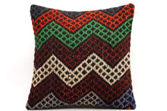 CLEARANCE 16x16 Vintage Hand Woven Kilim Pillow  480,green,blue,beige,black,gray,orange,chevron - kilimpillowstore  - 1