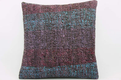 CLEARANCE 16x16 Vintage Hand Woven wool purple green red  gradient colour Kilim Pillow  cushion 1029_A Wool cushion - kilimpillowstore  - 1