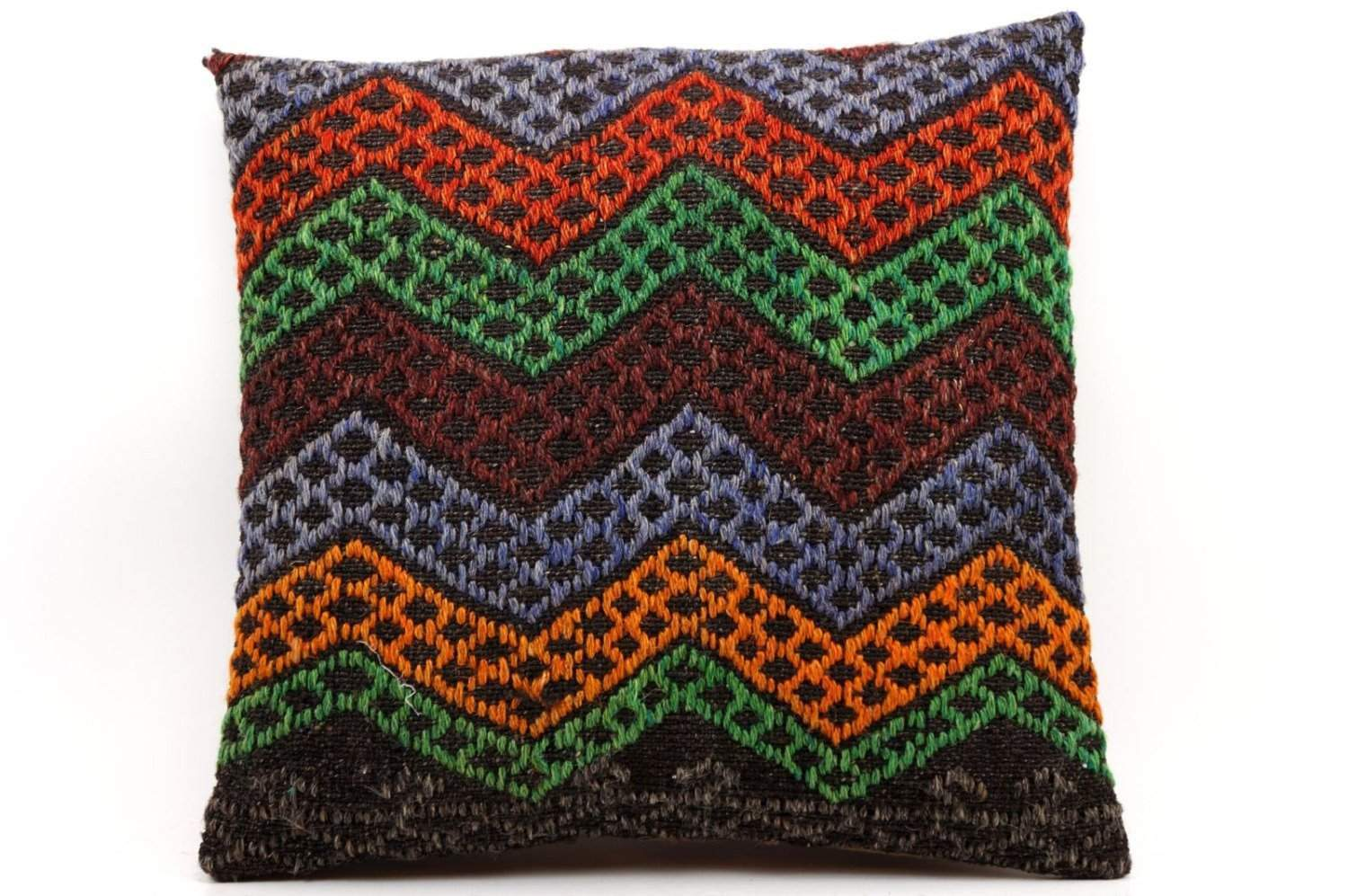 Chevron pillow hand woven kilim pillow 16 inches