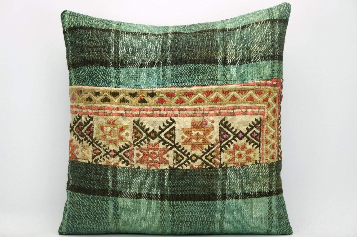 Decorative Geometric Kilim pillow , patchwork pillow 1469