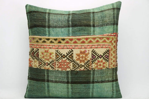 CLEARANCE Decorative Geometric Kilim pillow ,  patchwork pillow  1469 - kilimpillowstore  - 1