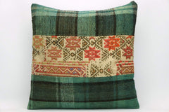 CLEARANCE Green  Kilim pillow ,  patchwork pillow 1465 - kilimpillowstore  - 1