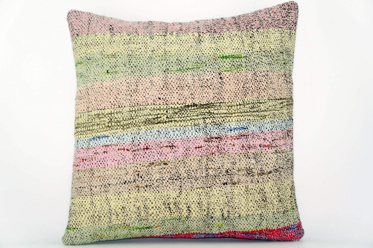 CLEARANCE Handwoven hemp pillow  , Decorative Kilim pillow cover  1560_A - kilimpillowstore  - 1