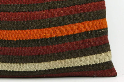 CLEARANCE Pillow cover striped , Decorative Kilim pillowcase , 16x16 pillow   1423 - kilimpillowstore  - 4