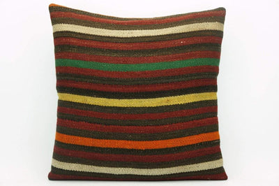 CLEARANCE Pillow cover striped , Decorative Kilim pillowcase , 16x16 pillow   1423 - kilimpillowstore  - 1