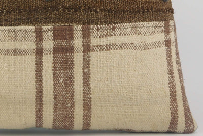 CLEARANCE Striped Kilim pillow  ,  Cream patchwork pillow  1488 - kilimpillowstore  - 4