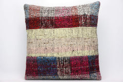 CLEARANCE Striped Kilim pillow ,  Multi colour patchwork pillow  1483 - kilimpillowstore  - 1