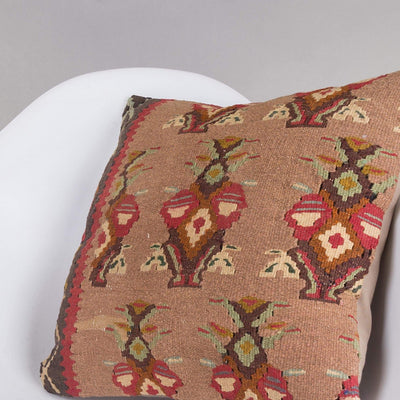Contemporary Multi Color Kilim Pillow Cover 16x16 5153 - kilimpillowstore  - 2