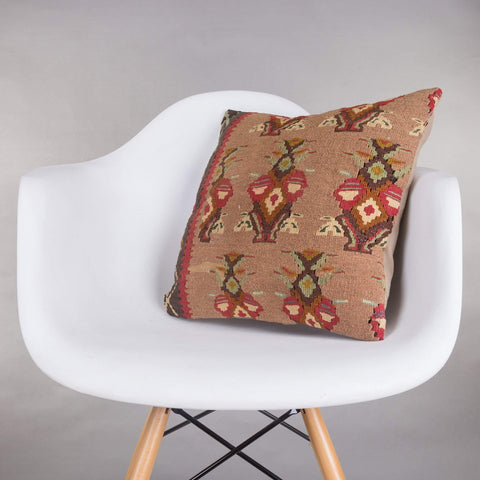Contemporary Multi Color Kilim Pillow Cover 16x16 5153 - kilimpillowstore  - 1