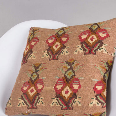 Contemporary Multi Color Kilim Pillow Cover 16x16 5154 - kilimpillowstore  - 2