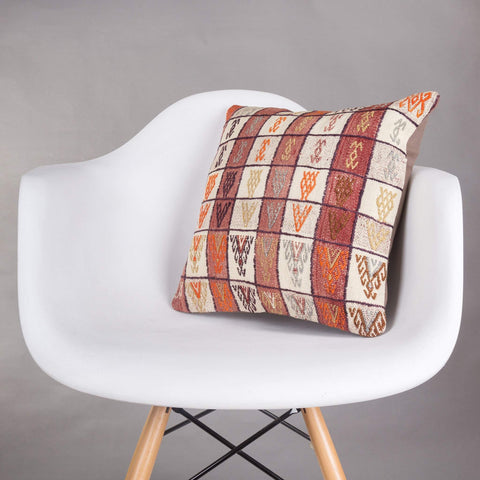 Contemporary Multi Color Kilim Pillow Cover 16x16 5156 - kilimpillowstore  - 1