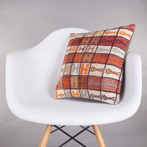 Contemporary Multi Color Kilim Pillow Cover 16x16 5158 - kilimpillowstore  - 1