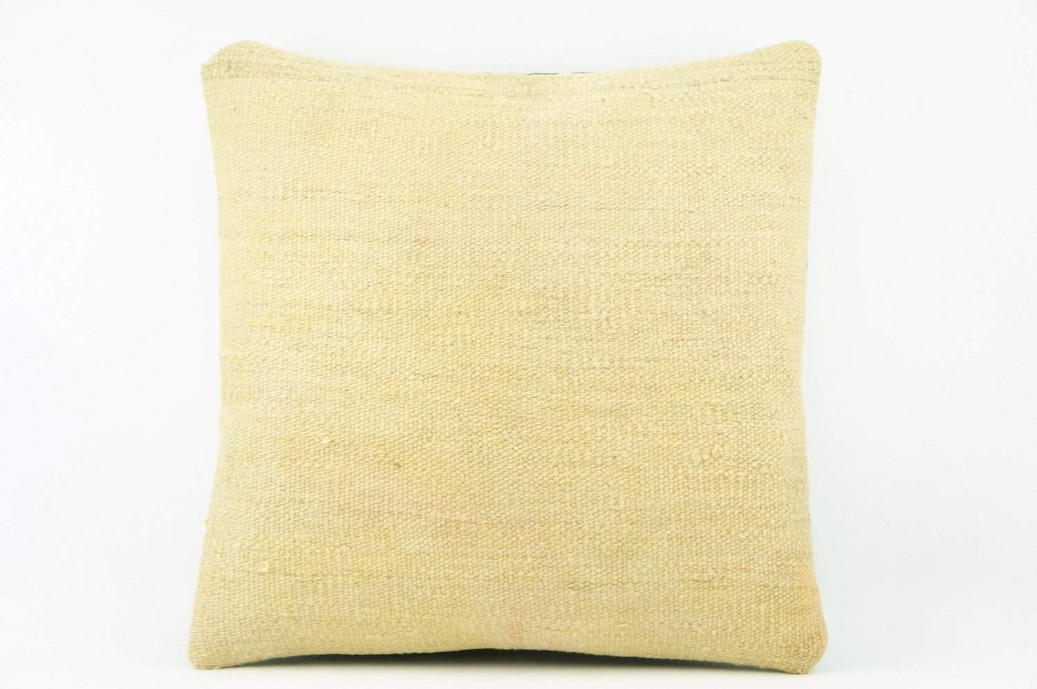 Cream hemp  Kilim  pillow case 16,  throw  cushion, ethnic decor,  Mediterranean  decor,  2200 - kilimpillowstore  - 1
