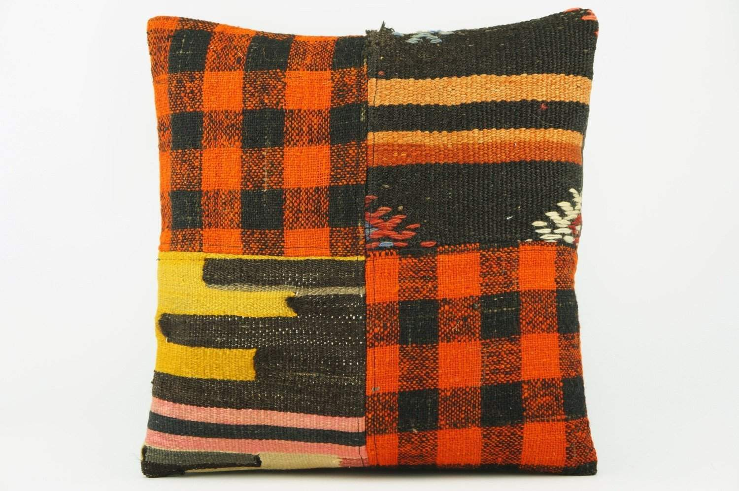 Ethnic Kilim pillow cover orange 2262