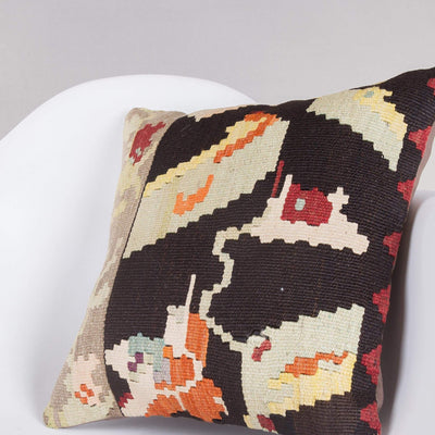Geometric Multi Color Kilim Pillow Cover 16x16 5250 - kilimpillowstore  - 2