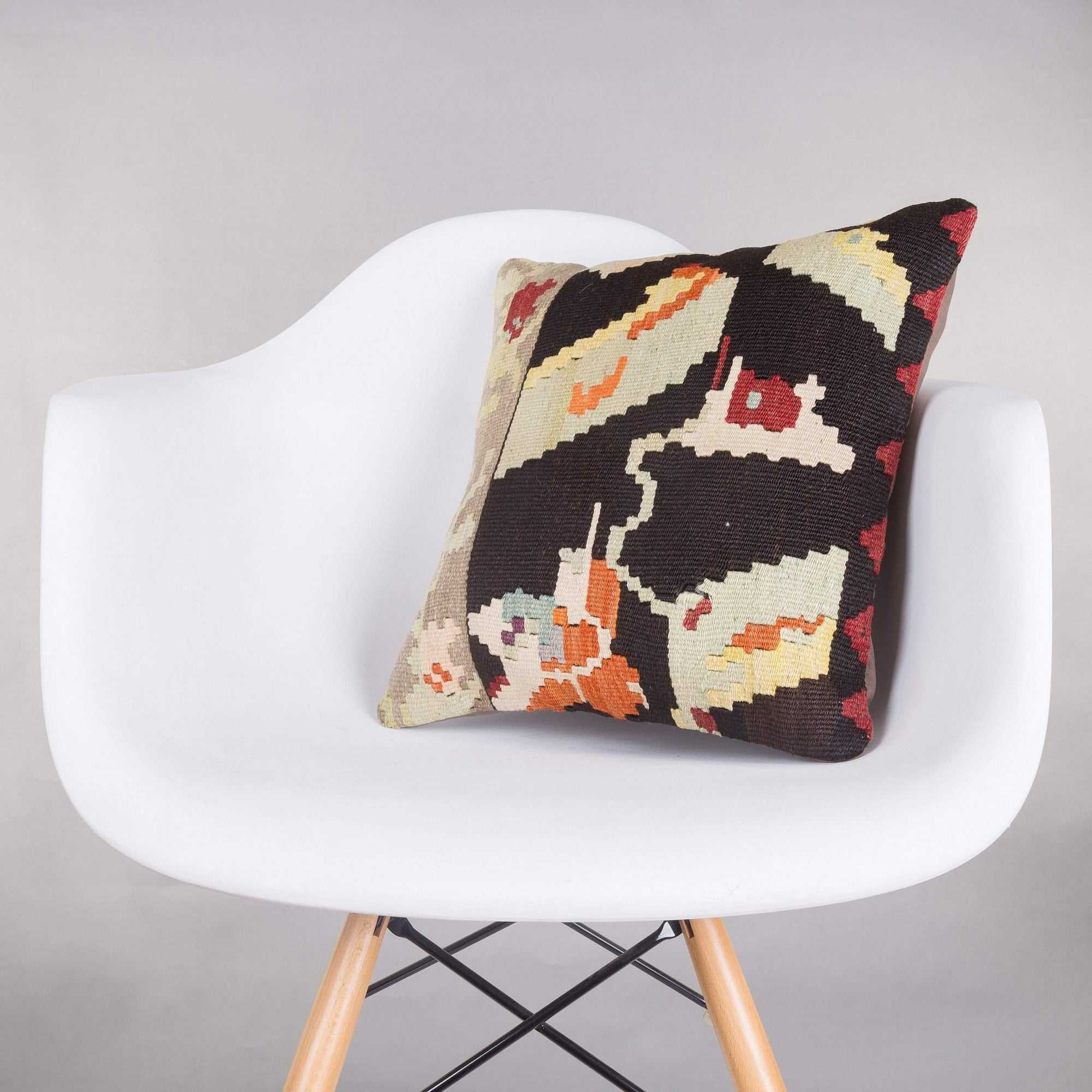 Geometric Multi Color Kilim Pillow Cover 16x16 5250