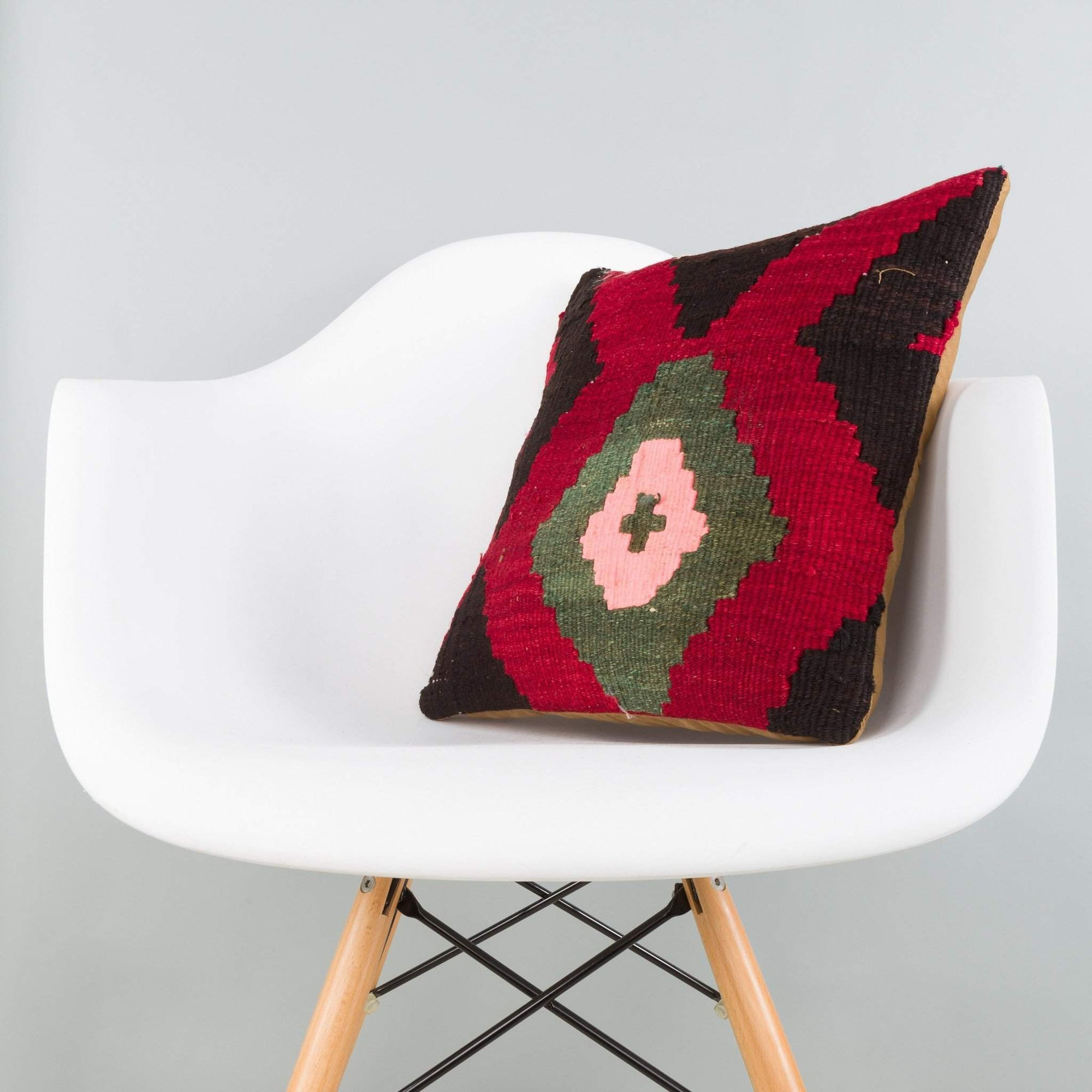 Geometric Multi Color Kilim Pillow Cover 16x16 5881