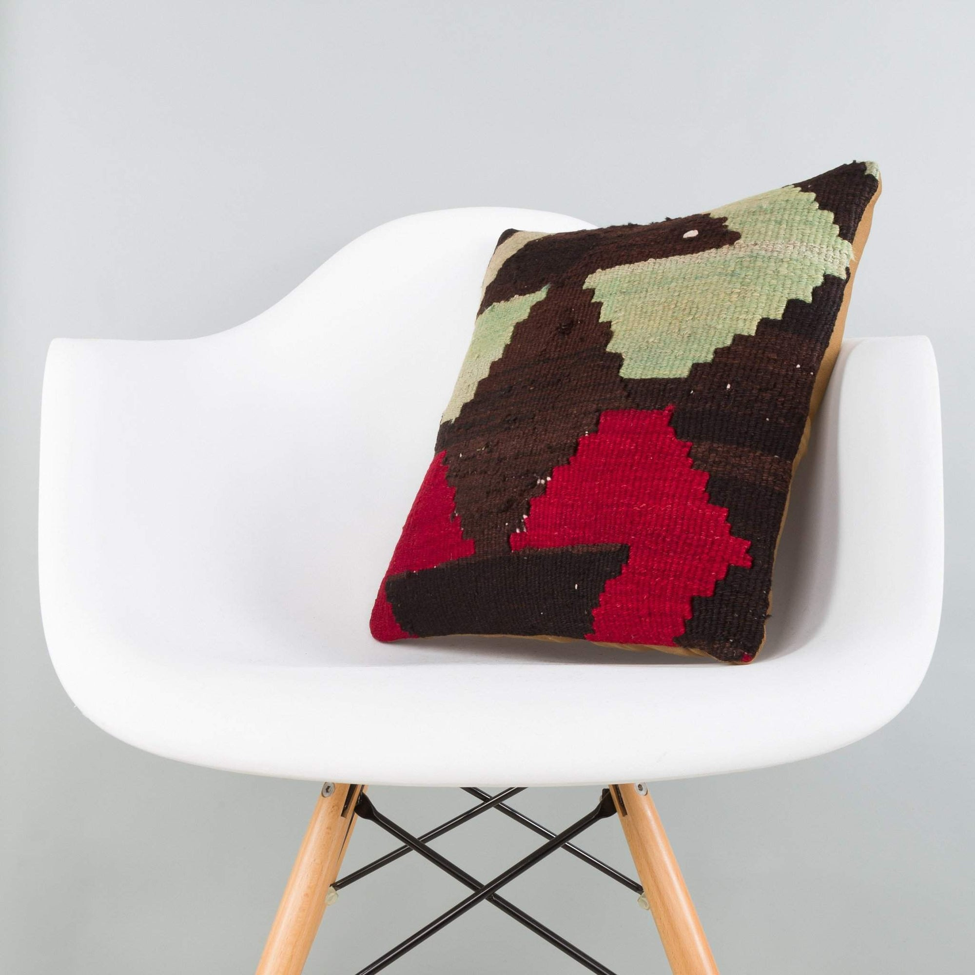 Geometric Multi Color Kilim Pillow Cover 16x16 5902