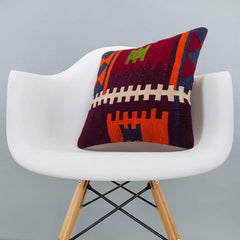Geometric_Multiple Color_Kilim Pillow Cover_16x16_A0209_6263